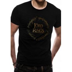 LORD OF THE RINGS GOLD FOIL LOGO T-SHIRT SIZE EXTRA LARGE