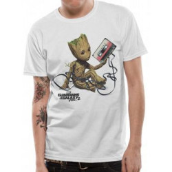 BABY GROOT WITH TAPE GUARDIANS OF THE GALAXY MARVEL T SHIRT SIZE LARGE