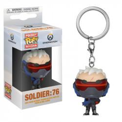 SOLDIER 76 OVERWATCH POCKET POP! KEYCHAIN