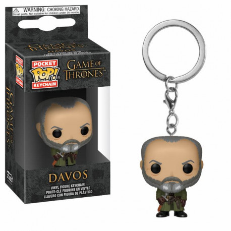 DAVOS GAME OF THRONES POCKET POP! KEYCHAIN
