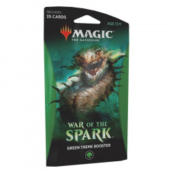 THEME BOOSTER GREEN WAR OF THE SPARK MAGIC THE GATHERING ANGLAIS