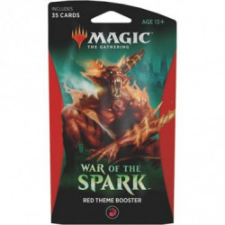 THEME BOOSTER RED WAR OF THE SPARK MAGIC THE GATHERING ANGLAIS