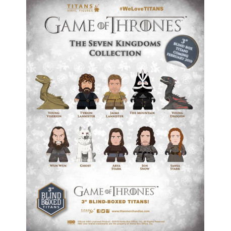 GAME OF THRONES THE SEVEN KINGDOMS COLLECTION BLIND BOX VYNIL FIGURE